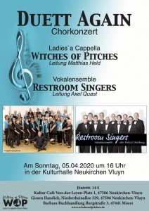 Plakat Konzert mit Witches of Pitches _ 05_04_2020